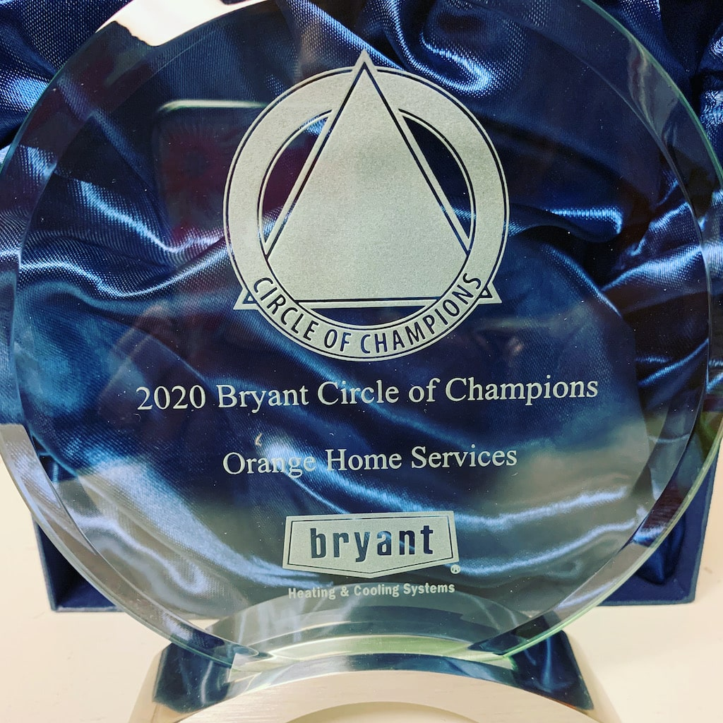 Orange Home Services - 2020 Bryant Circle of Champions Award